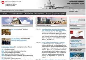 Site www.admin.ch